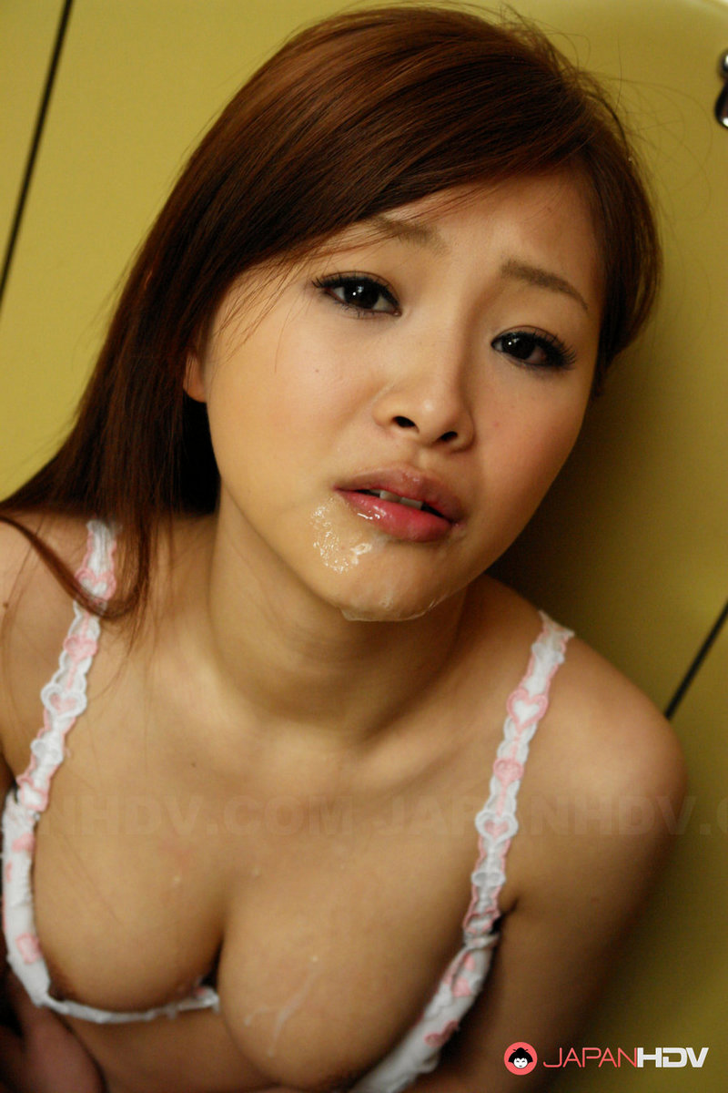 Asian girl in a parking lot